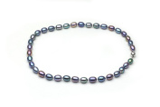"""HinsonGayle AAA Handpicked 8-8.5mm Multicolor Oval Freshwater Cultured Pearl Necklace 18"""""""