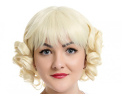 EDENKISS Premium Fashion Short Hair Replacement Straight Curly Full Head Wigs With Simulation Scalp Cosplay Costume Party Hairpiece