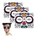 Sugar Skull Temporary Tattoo Floral Design