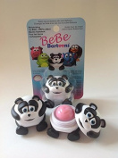 BeBe Bartoons Fun and Collectible Lip Balms - Panda (Pink Bubble Gum Ice Cream Flavour).