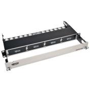 High Density Copper / Fiber Enclosure Panel, 1U, 4-Cassette Capacity