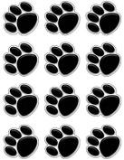 Teacher Created Resources Mini Accents, Black Paw Prints