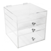 Acrylic Makeup Organiser Cube | 3 Drawers Storage Box For Vanity Tables | By N2 Makeup Co