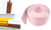 Child Home Safety Adhesive Table Desk Furniture Corner Edge Rail Bumper Guards, Ridges, Pink