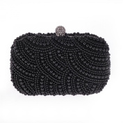 Womens Meticulous Pearl Hard Case Chain Bag Evening Wedding Party Clutch Purse