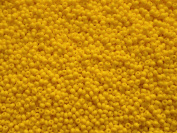20gr 10/0 Preciosa Czech Round Glass Seed Beads,Square hole,Gold Yellow Opaque
