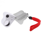 Illuminated Jewellery LED eye Loupe Magnifier with two lens, 60X, 12MM and 30X, 22MM with Kare and Kind retail package