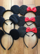 Set of 12 -Mickey Mouse Ears, Mickey Ears, Minnie Ears, Minnie Mouse Ears, Mickey Headband, Minnie Headband