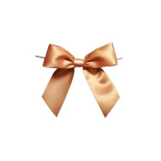 Harvest Imports 12 Pack of 7.6cm Gold Satin Pre-tied Bow with Wire Twist Included