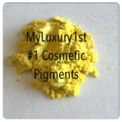 1 Gramme Yellow Satin Mica Pigment Powder 1g Sample for Soap Cosmetics Art and Crafts