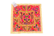 Hmong Embroidered Hill Tribe Fashionable Style Yellow Birds Fabric