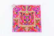 Hmong Embroidered Hill Tribe Fashionable Style White Birds Fabric