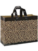 """Frosted Plastic Shopping Gift Bags Large (41cm x 15cm x 12"""")- Quantity of 100"""