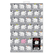 White Elephant Wrapping Paper