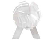 Pull String Bows 13cm 20 Loops White Pkg/6