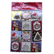 Christmas Traditional Hand Crafted Tags - Foiled & Layered - 24 X 4 Page Tags in 6 Designs