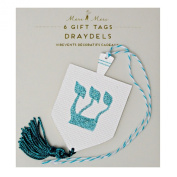 Hannukah Wrapping Paper Gift Tags 6 Hannukah Holiday Gift Tags Die Cut with Tassels