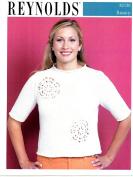 Women's Eyelet Circles Top - Reynolds Knitting Pattern 82150
