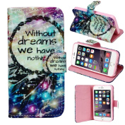 iPhone 5 5S, Lookatool® for iPhone 5 5S Magnetic Wallet Flip Leather Cover Case Skin