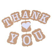 THANK YOU Vintage Wedding Bunting Banner Photo Booth Props Garland Bridal Show Wedding Decoration