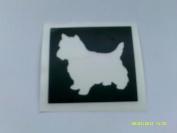 10 x West Highlander / Scottish Terrier stencils for etching on glass dog
