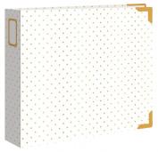Crate Paper Maggie Holmes Shine Classic Leather Foil Cream Album, 30cm x 30cm , Gold