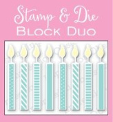 Small Candle Block Unmounted Rubber Stamp and Die Set for Scrapbooking