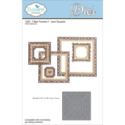 1062 - Fitted Frames 2 -Lace Squares Steel Cutting Die by Elizabeth Craft Designs