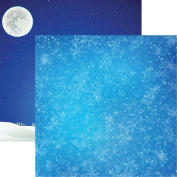 Reminisce Snowy Night Christmas Town Scrapbook Papers - 5pc