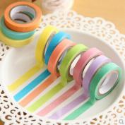 Voberry® 10x Decorative Washi Rainbow Sticky Paper Masking Adhesive Tape Scrapbooking DIY
