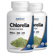 Nutricost Chlorella Capsules (2 Bottles) 500mg, 240 Capsules Each