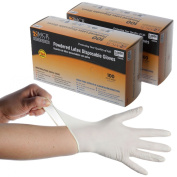 200 MCR Safety Powdered Latex Single Use FDA Compliant Disposable Gloves Large