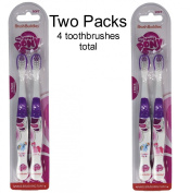 My Little Pony kid's children's soft bristle TOOTHBRUSH set - Rainbow Dash & Pinkie Pie