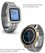 Truffol 22mm Metal Band for Samsung Gear S3 Frontier & Classic, Fitbit Blaze, Huawei Watch 2 Classic - Quick Release Stainless Steel Strap Wristband