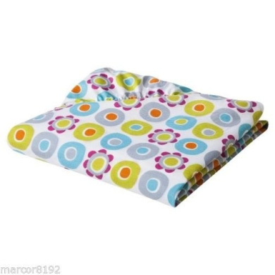 Sumersault Mix & Match Collection MULTI FLORAL MF08 100% Cotton Fitted Crib Sheet in Multicolor