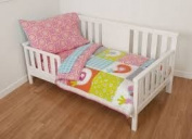 4 Piece Multi Birdie Patch Toddler Bedding Set by Sumersault