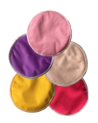 Natural Super Soft Bamboo nursing pads, Antibacterial Water Absorbent pads for breastfeeding mothers, Reusable and Washable Pads Soft Against Your Skin. Maximum Comfort and Confidence 5 pairs per bag.