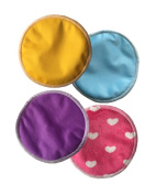 Natural Super Soft Bamboo nursing pads, Antibacterial Water Absorbent pads for breastfeeding mothers, Reusable and Washable Pads Soft Against Your Skin. Maximum Comfort and Confidence 4 pairs per bag.