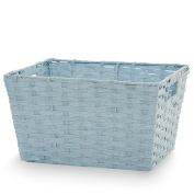 Small Rectangular Paper Fibre with In-Handle Basket - Sky Blue