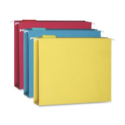 Smead Hanging Box Bottom File Folder with Tab, 5.1cm Expansion, Letter Size, Assorted Colours, 25 per Box