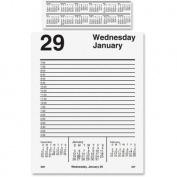 At-A-Glance Products - Daily Desk Calendar Refil, F/ E58 Base, Jan-Dec, 1PPD, 13cm x 20cm - Sold as 1 EA - Daily calendar refill includes pad-style sheets and one-page-per-weekday spreads with ruled, half-hourly appointment times from 7 AM to 4:30 PM.  ..