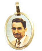 Beato Charlie Puerto Rico Medal 18k Gold Plated with 46cm Chain Beato Carlos Manuel Rodriguez