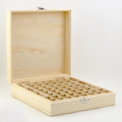 Wooden Essential Oil Box - Holds 52 (5-15 ml) & 6 (10ml Roll-On) Essential Oil Bottles - Perfect Essential Oils Case for Travelling - Protects Your Essential Oils From Damaging Sunlight ...