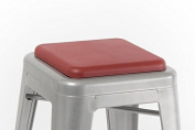 Square Seat Cushion for Metal Bar Stools or Kitchen Chairs, Red