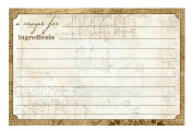 C.R. Gibson 40 Count Recipe Cards, 10cm by 15cm , Perfect Setting