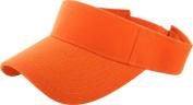 Hot Orange_Plain Visor Sun Cap Hat Men Women Sports Golf Tennis Beach New Adjustable