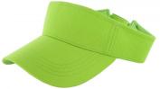 Neon Green_Plain Visor Sun Cap Hat Men Women Sports Golf Tennis Beach New Adjustable