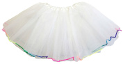Hairbows Unlimited Rainbow Trim Lined Ballet Dance Tutu