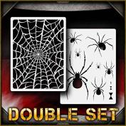 Spider Web Set 1 AirSick Airbrush Stencil Template