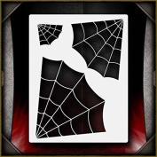 Spider Webs AirSick Airbrush Stencil Template